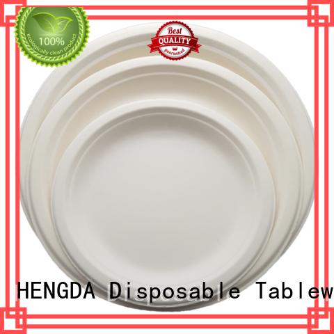 wedding Custom compostable green eco friendly plates HENGDA Disposable Tableware environment-friendly