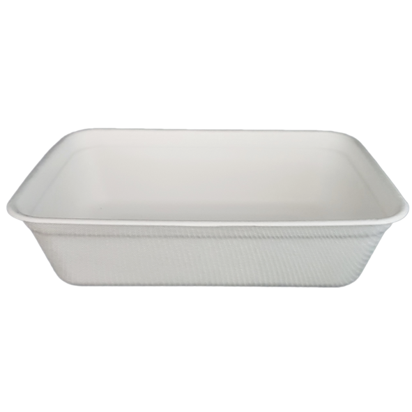 HENGDA Disposable Tableware Biodegradable and Compostable Sugarcane Bagasse Tray Bagasse Plate/Tray image3