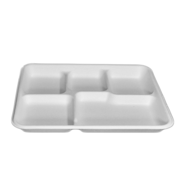 Biodegradable and Compostable Sugarcane Bagasse Tray