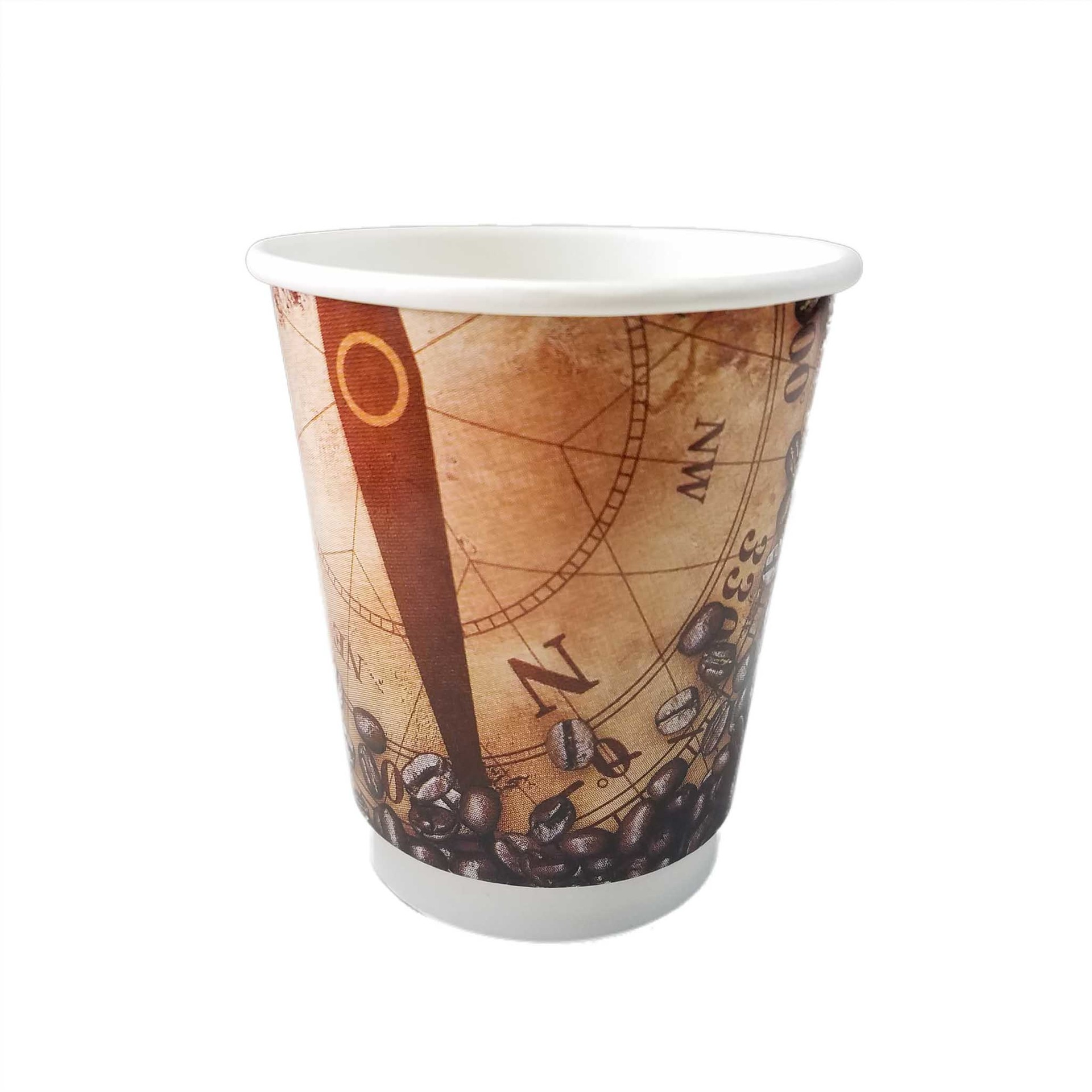 HENGDA Disposable Tableware Custom Double Wall Paper Coffee Cup for Hot Drinks Disposable Paper Cup image4