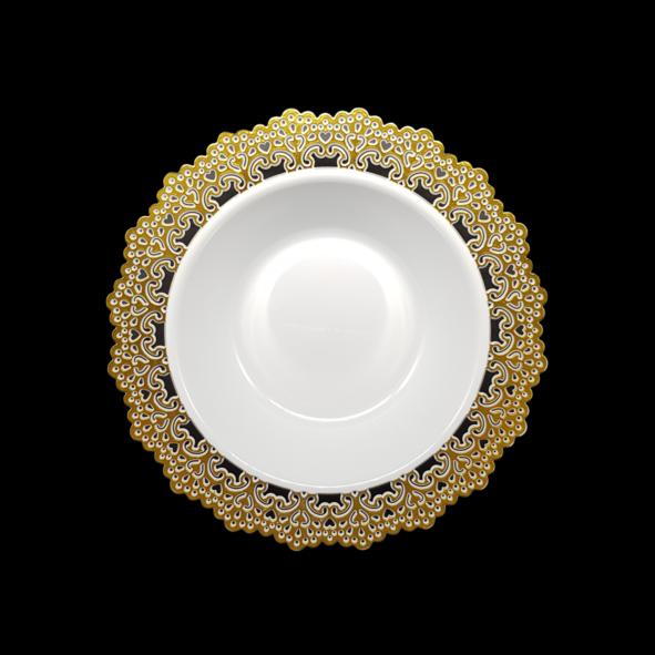 hotstamping elegant wedding plates with silver gold rim design elegant HENGDA Disposable Tableware Brand