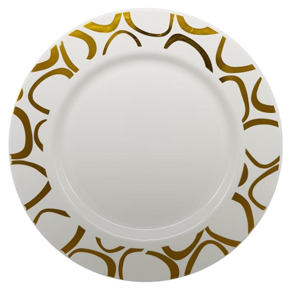 HENGDA Disposable Tableware Hot-stamping PS Elegant Disposable Plastic Plate&Bowl Elegant Disposable Dinnerware image3