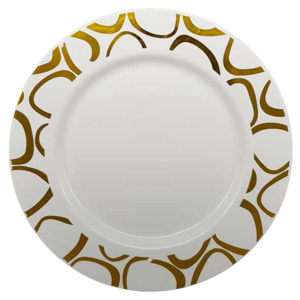 HENGDA Disposable Tableware Hot-stamping PS Elegant Disposable Plastic Plate&Bowl Elegant Disposable Dinnerware image3