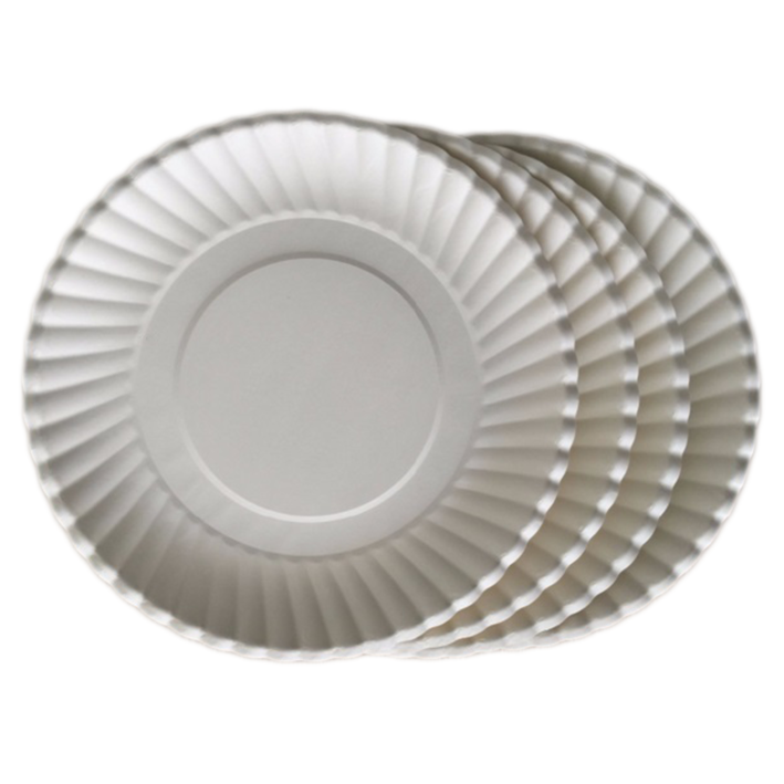 Food Grade White and Colored Cardboard Good Quality Paper Plate