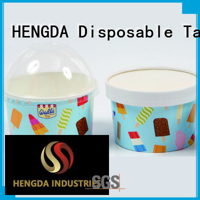 HENGDA Disposable Tableware Brand printed containers ice cream cups wholesale paper factory