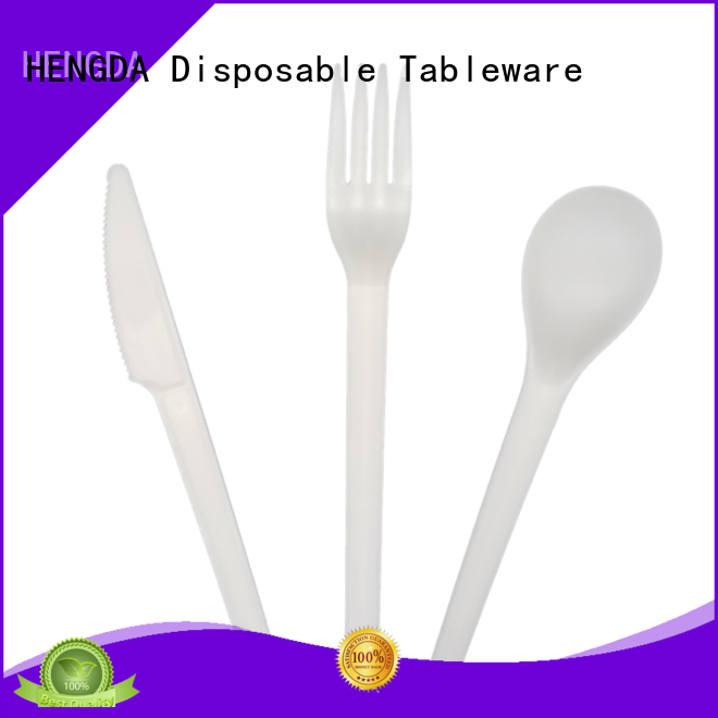 high grade disposable biodegradable cutlery compostable HENGDA Disposable Tableware company