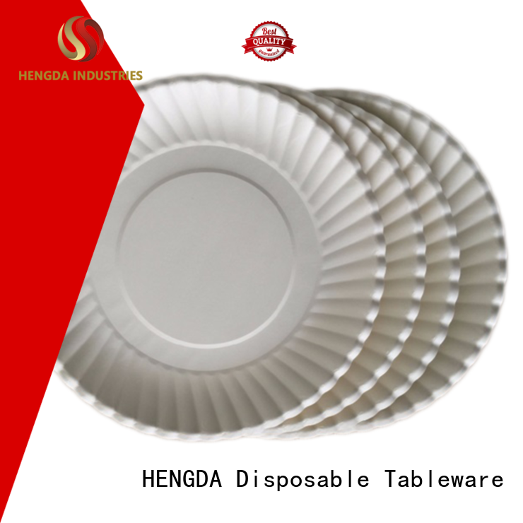 Wholesale colored quality paper plates HENGDA Disposable Tableware Brand