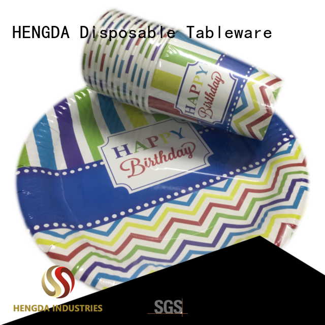 Quality HENGDA Disposable Tableware Brand quality paper plates fancy