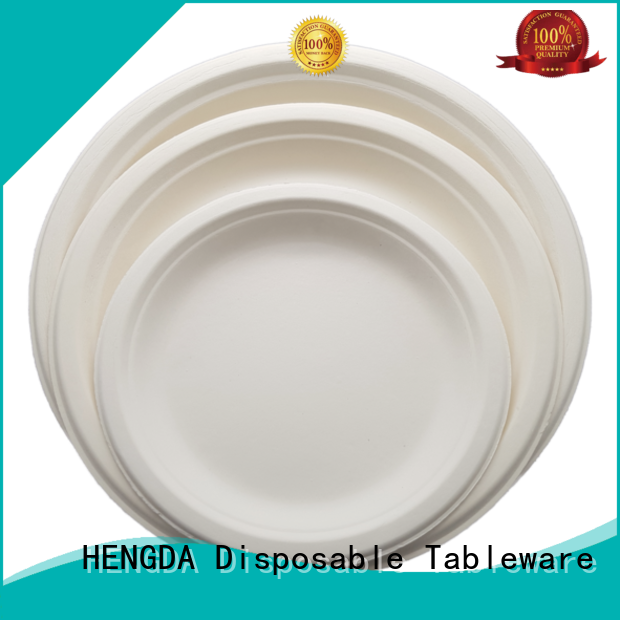 Wholesale wedding eco friendly disposable plates for wedding HENGDA Disposable Tableware Brand