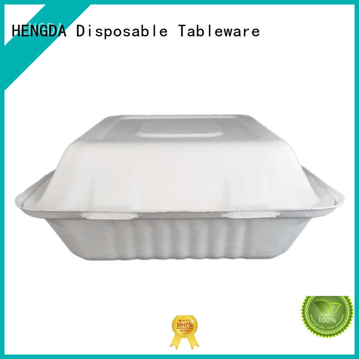 Wholesale environment-friendly Bagasse Bowls HENGDA Disposable Tableware Brand