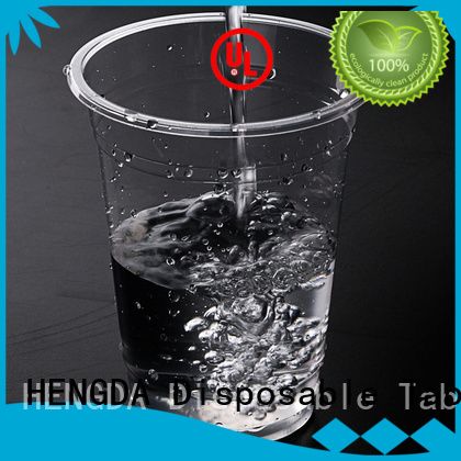 HENGDA Disposable Tableware Brand disposable plastic champagne wholesale plates and cups 100% food grade