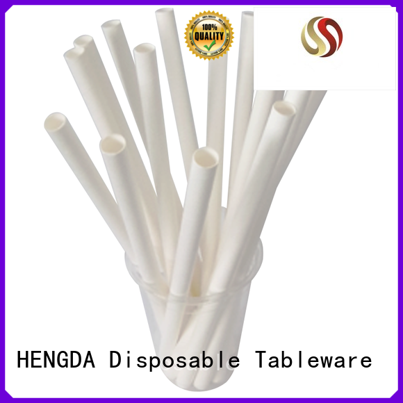 heat temperature colored disposable paper straw high HENGDA Disposable Tableware Brand