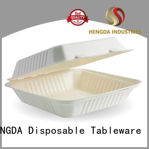 Bagasse Bowls bagasse in bulk compostable bowls HENGDA Disposable Tableware Brand