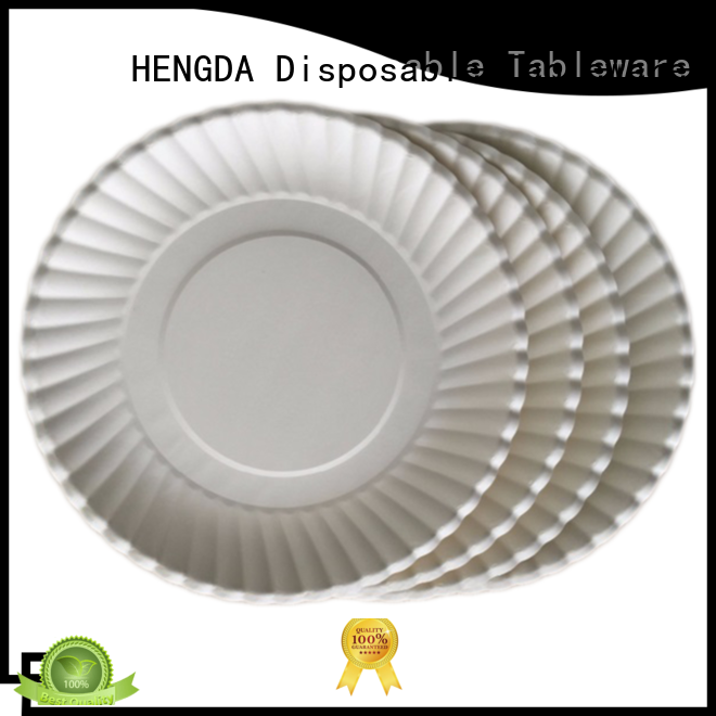 quality paper plates grade cups gold HENGDA Disposable Tableware Brand disposable paper plates