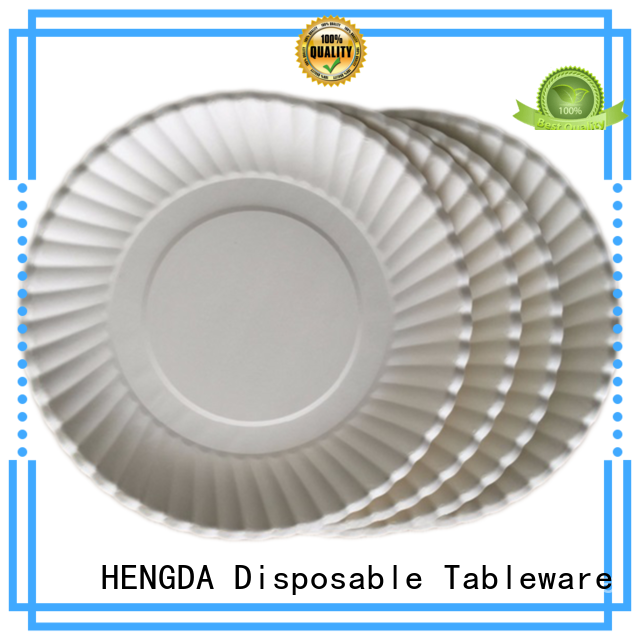 quality paper plates cardboard plates HENGDA Disposable Tableware Brand company