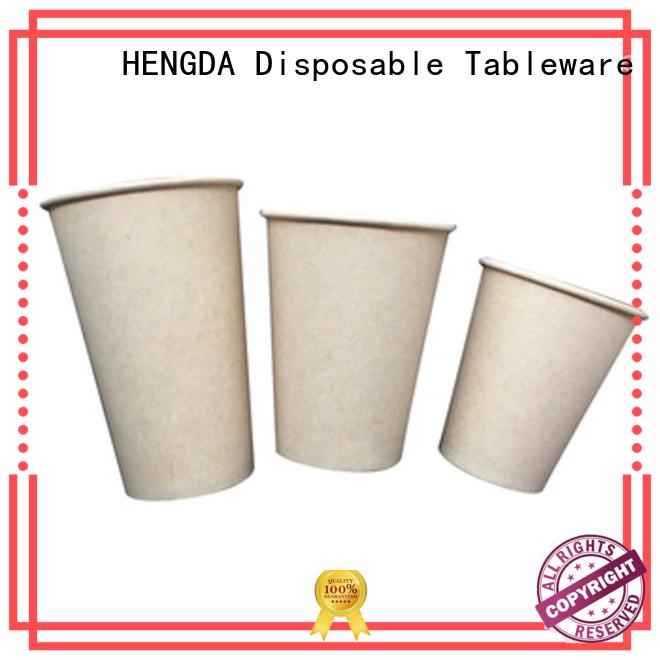 custom Custom white oem pla sugarcane paper cup HENGDA Disposable Tableware stock