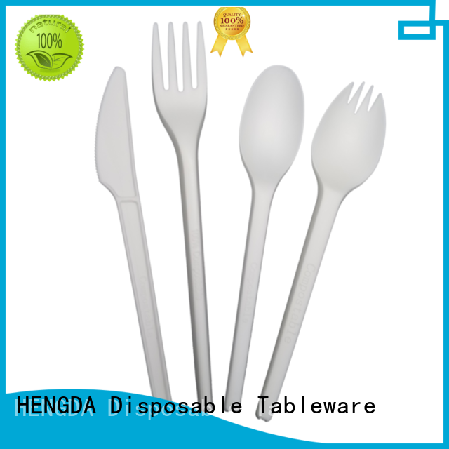 HENGDA Disposable Tableware Brand wedding cutlery biodegradable cutlery green factory