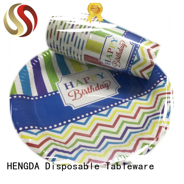 quality paper plates food cups colored HENGDA Disposable Tableware Brand company