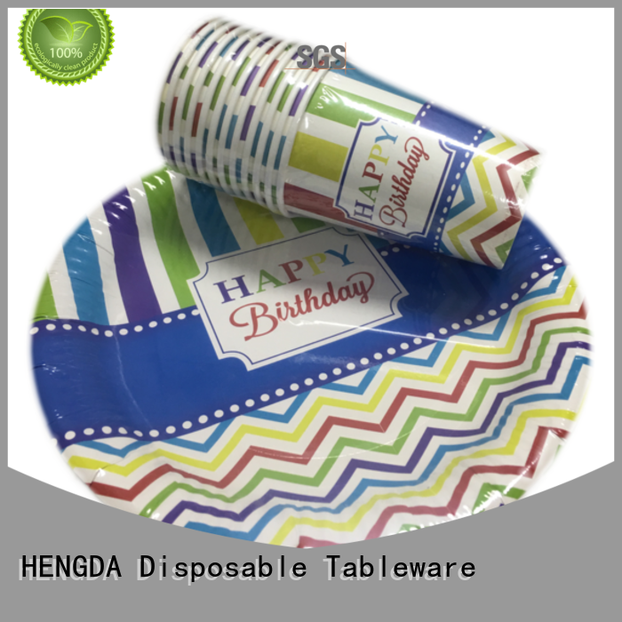 hotstamping grade disposable paper plates green HENGDA Disposable Tableware Brand company
