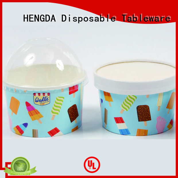 pink paper bowls printed party HENGDA Disposable Tableware Brand