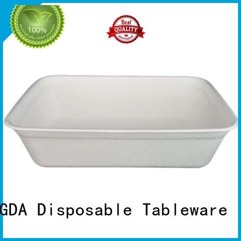 eco friendly disposable plates for wedding party wedding bagasse HENGDA Disposable Tableware Brand eco friendly plates