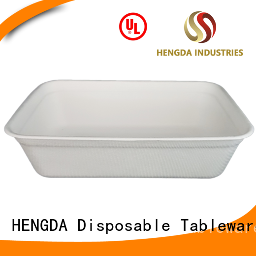 wedding bagasse eco friendly plates HENGDA Disposable Tableware Brand