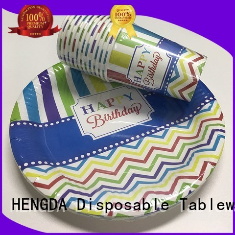quality paper plates gold in bulk wedding HENGDA Disposable Tableware Brand