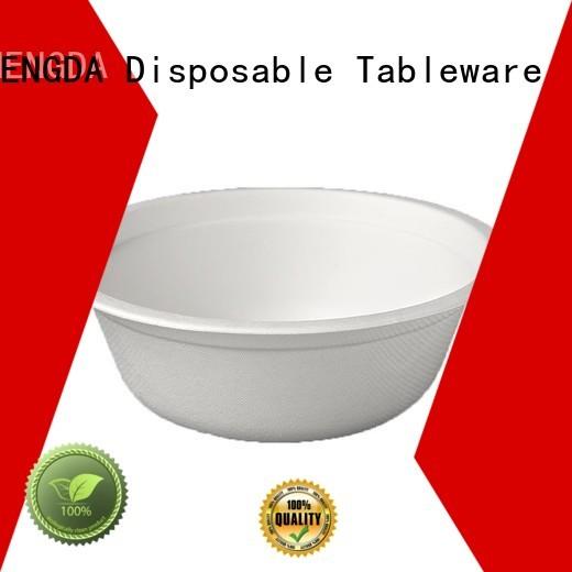 bowl sugarcane bagasse compostable bowls HENGDA Disposable Tableware
