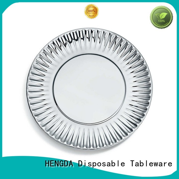quality paper plates grade fancy HENGDA Disposable Tableware Brand disposable paper plates