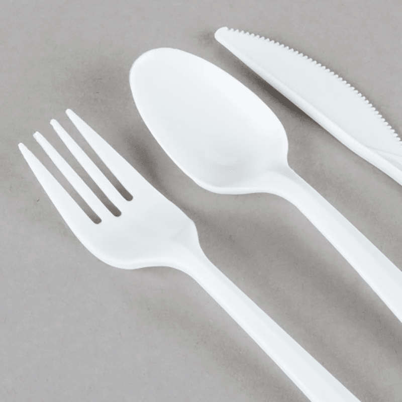 100% Food Grade PS/PP Plastic White and Colorful Cutlery