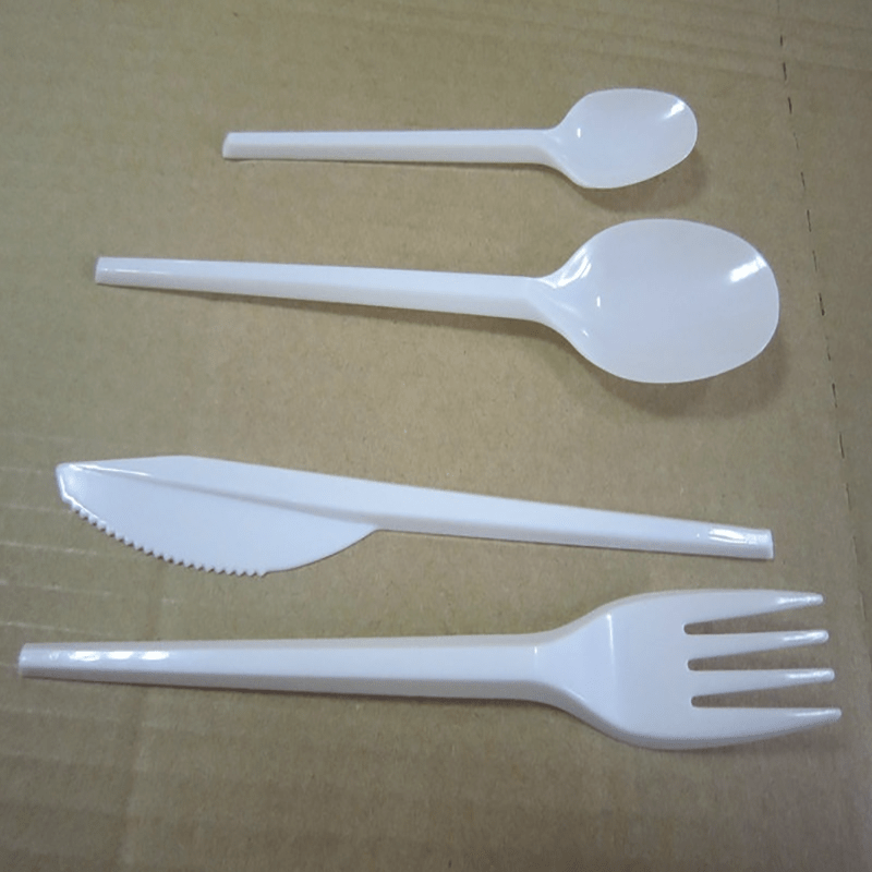 HENGDA Disposable Tableware 100% Food Grade PS/PP Plastic White and Colorful Cutlery Disposable Plastic Cutlery image8