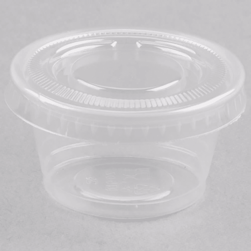 100% Food Grade PP Plastic Cup with PET Lid