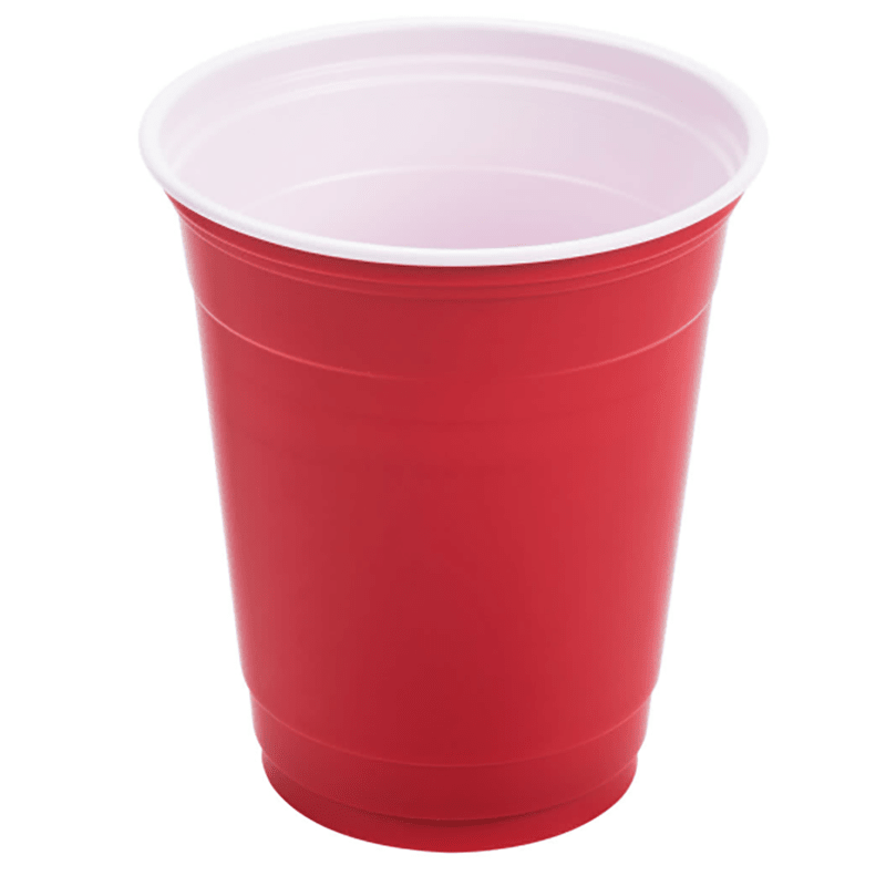 100% Food Grade PS/PET/PP Plastic Cup with Colorful Outside and White Inside