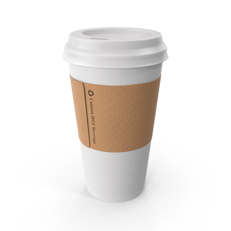 Single Wall Disposable Cup with Lid for Hot and Cold Drinks