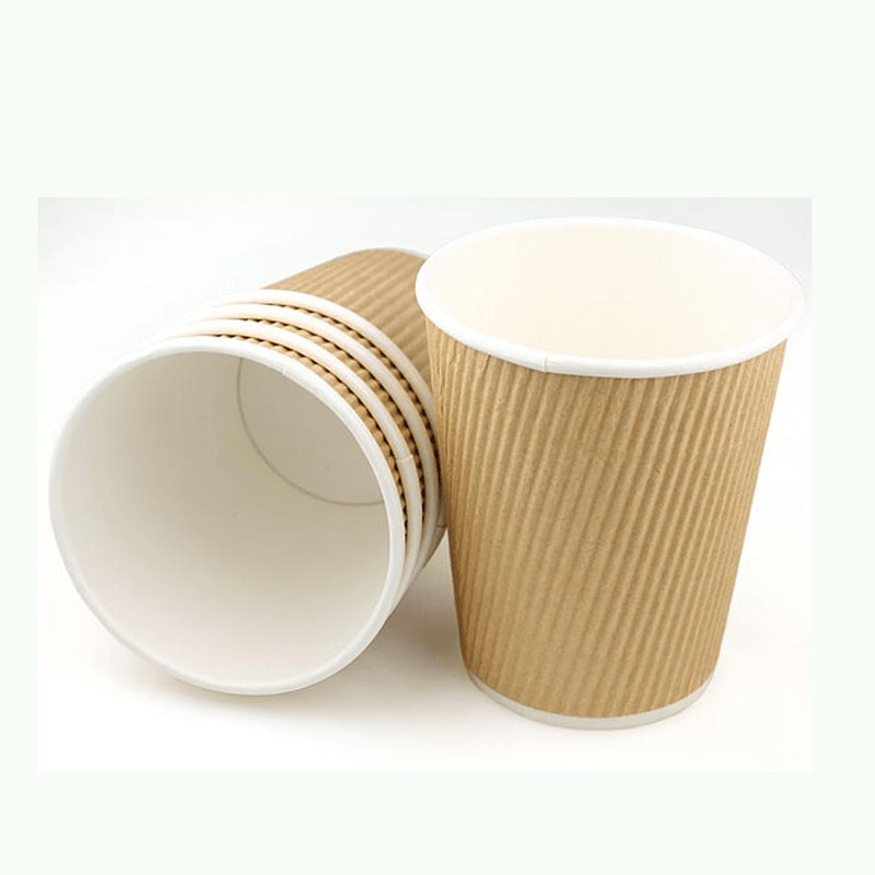 Ripple Wall Custom Disposable Printed Paper Coffee Cup