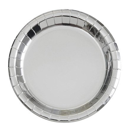 white quality paper plates silver grade HENGDA Disposable Tableware Brand