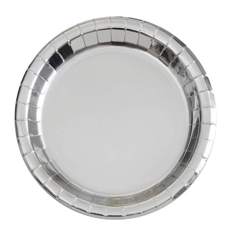 HENGDA Disposable Tableware Fancy Hot-Stamping Gold and Silver Paper Plate Disposable Paper Plate image1