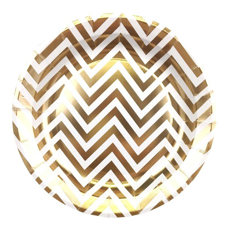 Fancy Hot-Stamping Gold and Silver Paper Plate