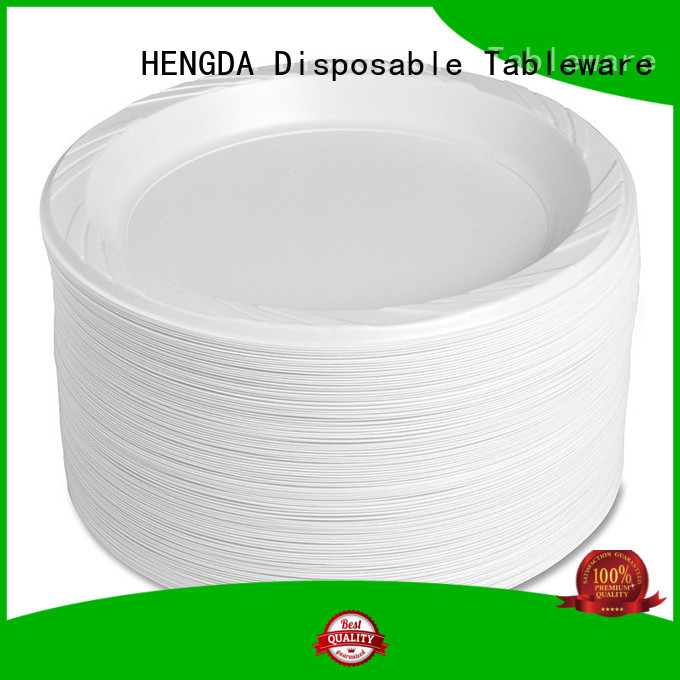 Custom custom 100% food grade wholesale plastic plates HENGDA Disposable Tableware containers