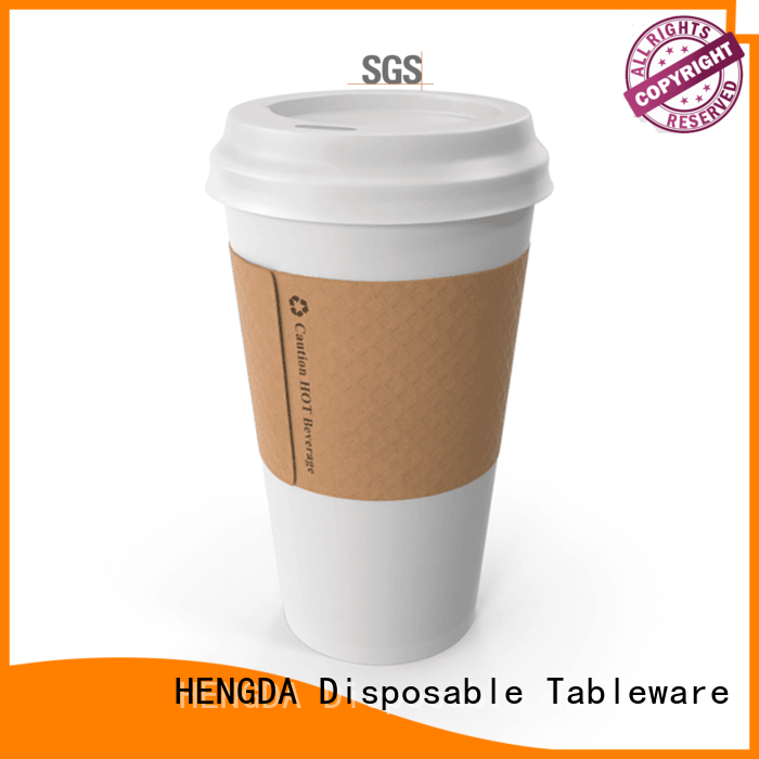 HENGDA Disposable Tableware Brand with lids cold drink disposable single wall paper party cups