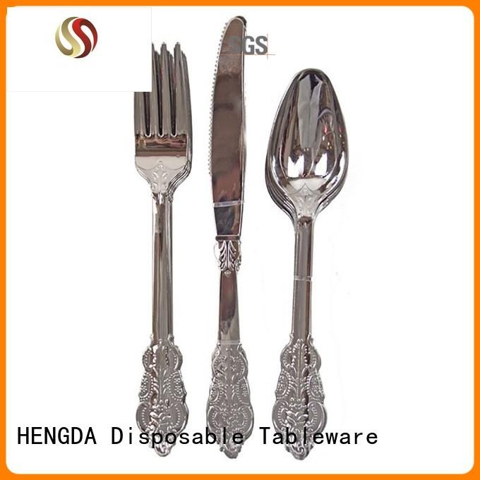 HENGDA Disposable Tableware Brand disposable plate food custom eco friendly cutlery