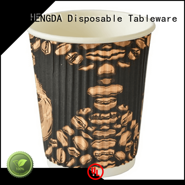Eco-friendly Custom paper cold drink paper party cups HENGDA Disposable Tableware hot drink