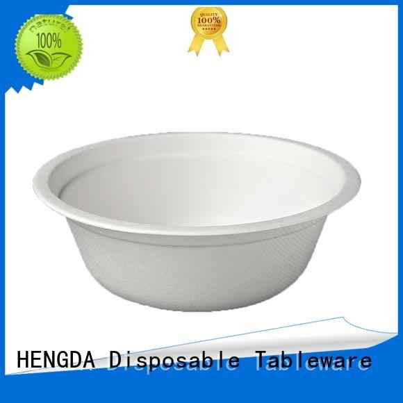 disposable compostable HENGDA Disposable Tableware Brand Bagasse Bowls