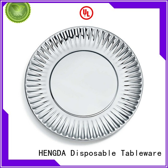 quality paper plates wedding green cardboard Warranty HENGDA Disposable Tableware