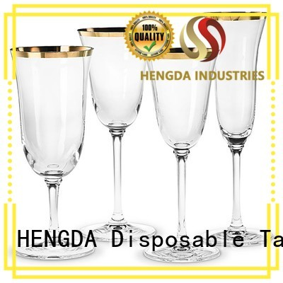 wedding disposable colorful cheap HENGDA Disposable Tableware Brand wholesale plastic plates supplier