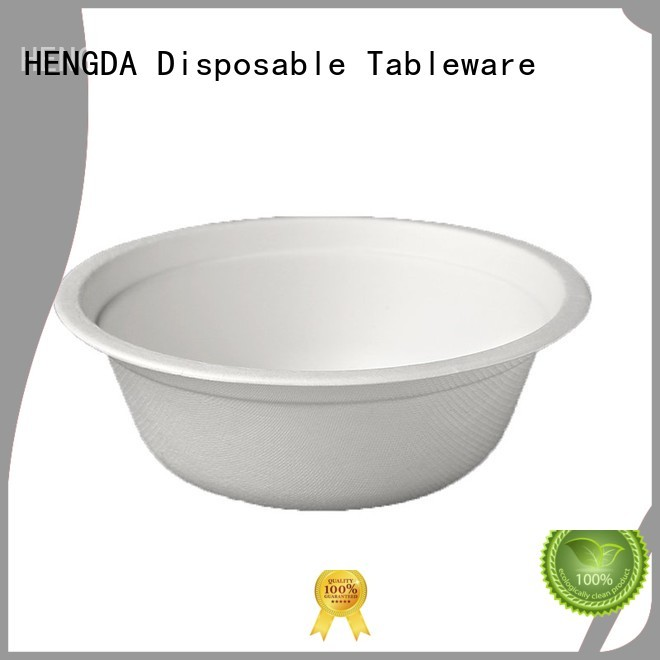 Bagasse Bowls wedding compostable bagasse HENGDA Disposable Tableware Brand company