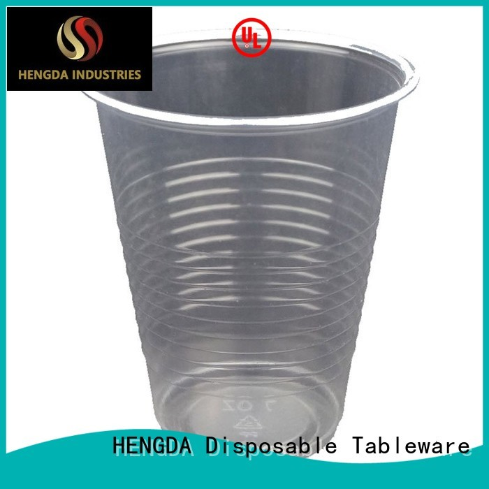 Wholesale water wholesale plates and cups colorful HENGDA Disposable Tableware Brand