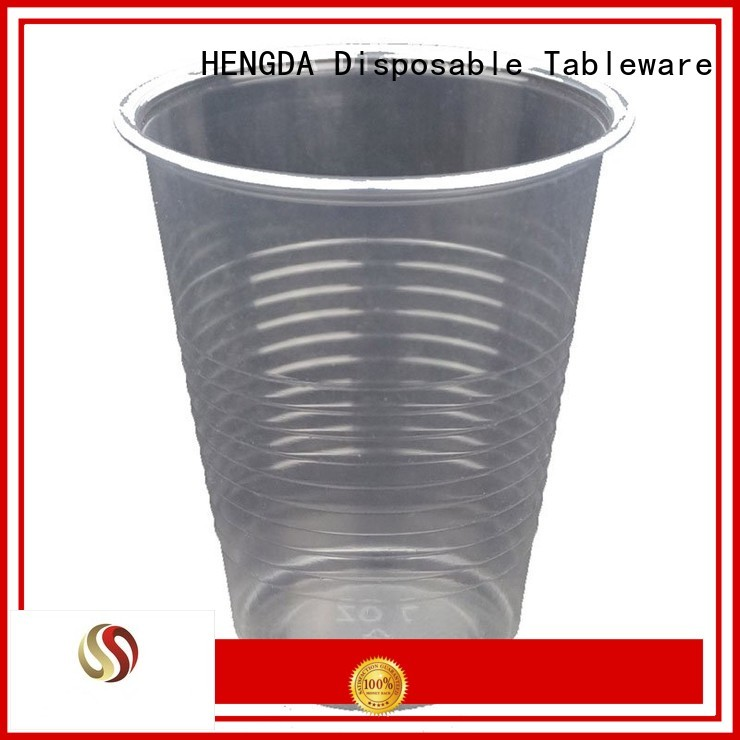 HENGDA Disposable Tableware Brand cold drink wine water wholesale plates and cups 100% food grade
