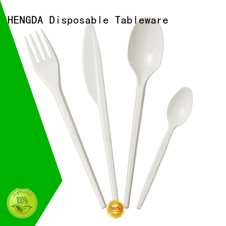 disposable plates and cutlery for parties plastic food grade HENGDA Disposable Tableware Brand party cutlery