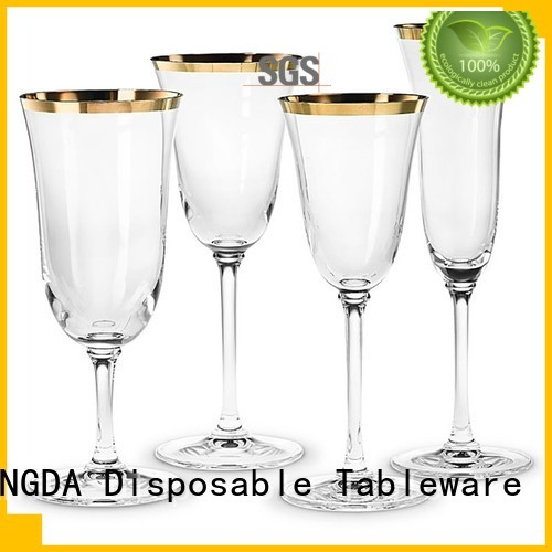 elegant wedding plates hotstamping high grade party HENGDA Disposable Tableware Brand elegant disposable dinnerware